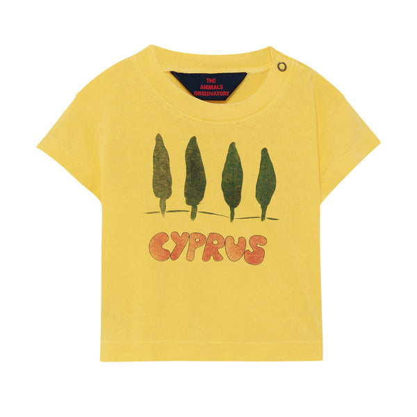 ROOSTER BABY T-SHIRT, SOFT YELLOW