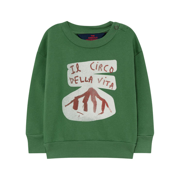 BEAR BABY SWEATSHIRT, GREEN CIRCO