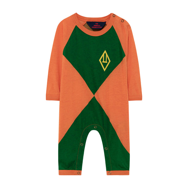 OWL BABY PYJAMAS, ORANGE TRIANGLES