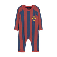 OWL BABY PYJAMAS, RED STRIPES