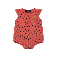 BUTTERFLY BABY BODY, RED DOTS