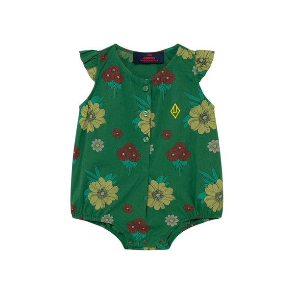 BUTTERFLY BABY BODY, GREEN FLOWERS