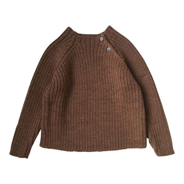 TOMA KNIT BLOUSE, ALMOND