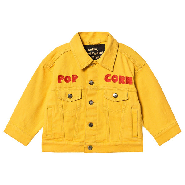 POPCORN JEANS JACKET, YELLOW