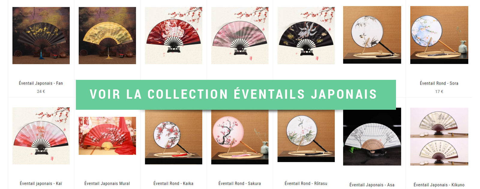 collection éventails japonais
