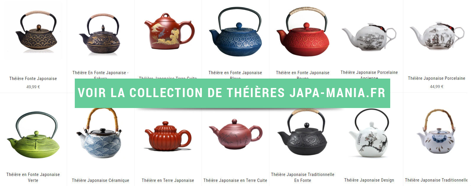 Collection Théières Japonaises en Fonte