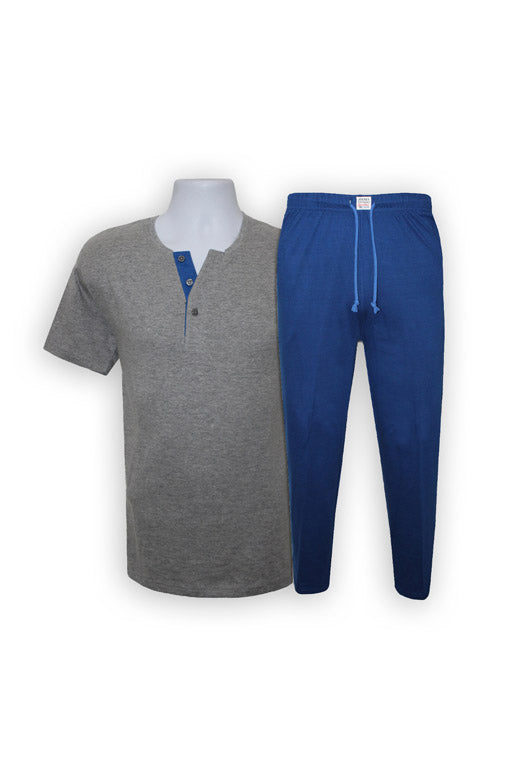 Jockey® Pijama de Hombre Heather Gray Manga Corta Bermuda