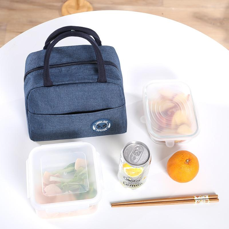 1PCs Fresh Cooler Bags Waterproof Nylon Portable Zipper Thermal Oxford Lunch Bags For Women Convenient Lunch Box Tote Food Bags - GreatEagleInc