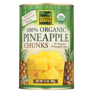 Native Forest Organic Chunks - Pineapple - Case Of 6 - 14 Oz. freeshipping - GreatEagleInc