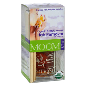 Moom Organic Hair Removal Kit With Lavender Spa Formula - 1 Kit freeshipping - GreatEagleInc
