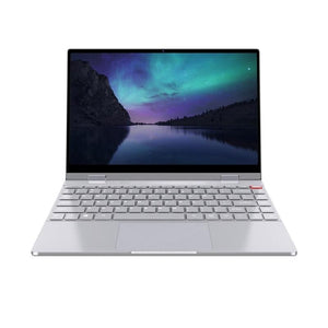 BMAX Y13 360 Degree Spin Laptop 13.3 Inch 1080P IPS Press Sn Notebook AU Plug with US EU UK plug (Silver Other) - GreatEagleInc