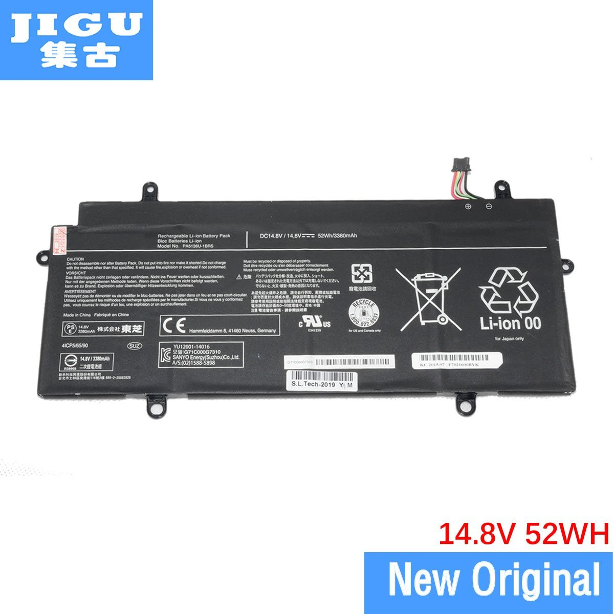 JIGU PA5136U-1BRS Original Laptop Battery For Toshiba For Portege Z30-C Z30 Z30-AK03S Z30-AK04S 15.2V 52WH - GreatEagleInc