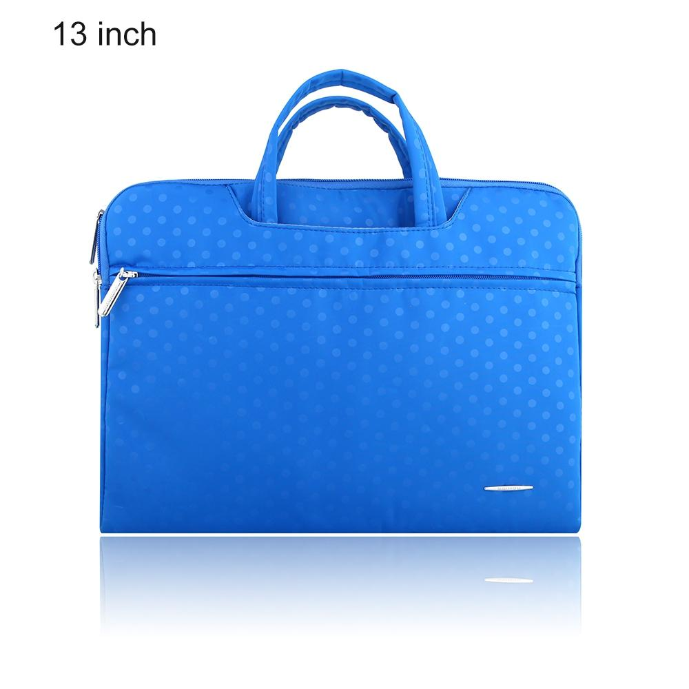 SSIMOO S818 2 in 1 Dot Pattern Laptop Bag Tablet Zipper Pouch Sleeve for MacBook 13 inch - GreatEagleInc