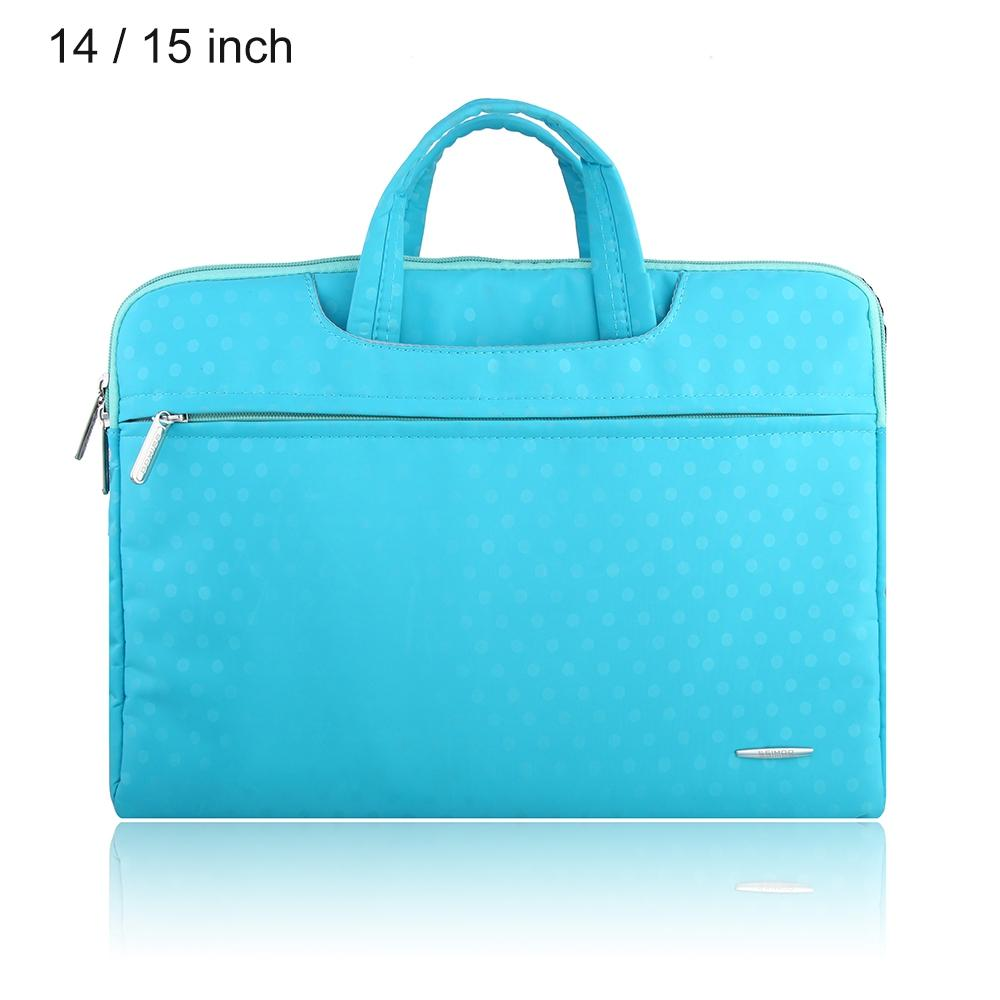 SSIMOO S818 2 in 1 Dot Pattern Laptop Bag Tablet Zipper Pouch Sleeve for MacBook 14 / 15 inch - GreatEagleInc