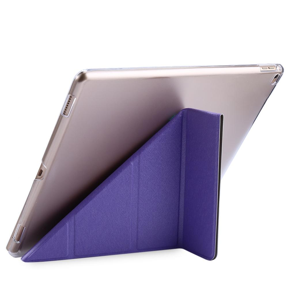 Ultra Slim Leather Wake Sleep Smart Multi-folds Cover Hard Back Case with Stand Function for iPad Pro - GreatEagleInc