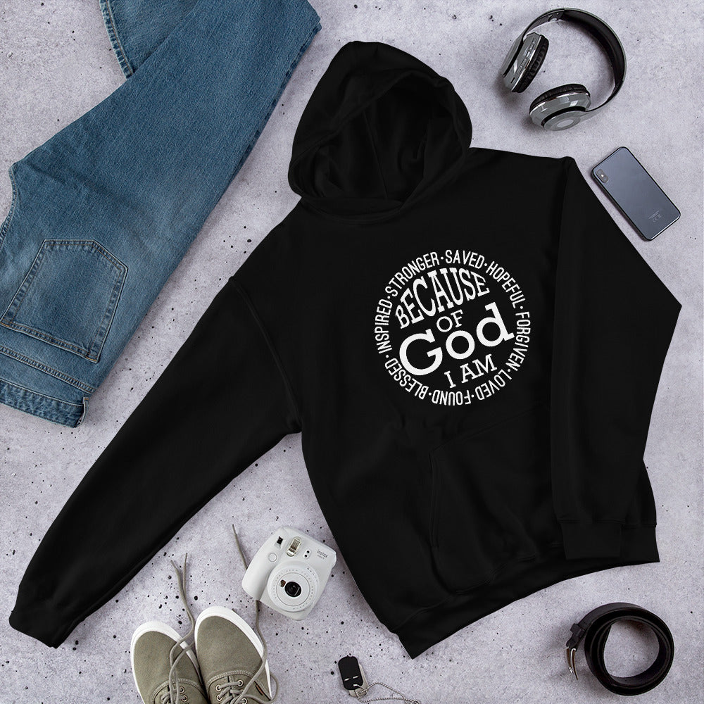 """Because of God I am Saved"" Unisex Hoodie"