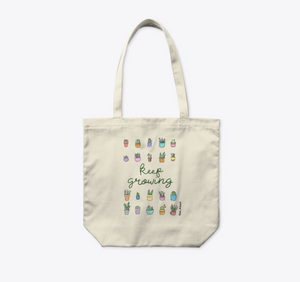 Keep Growing Organic Large Tote