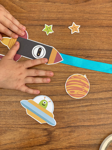 space race printable craft activity