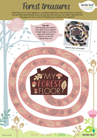 forest floor printable nature craft activity