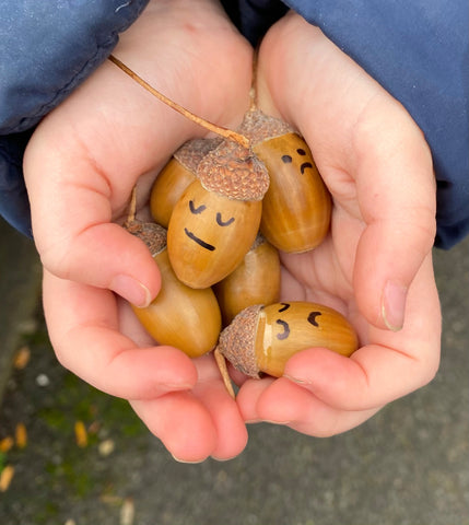 craft ideas for children acorn hunting