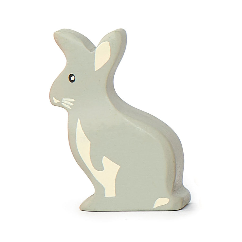 Tender Leaf wooden rabbit toy in grey