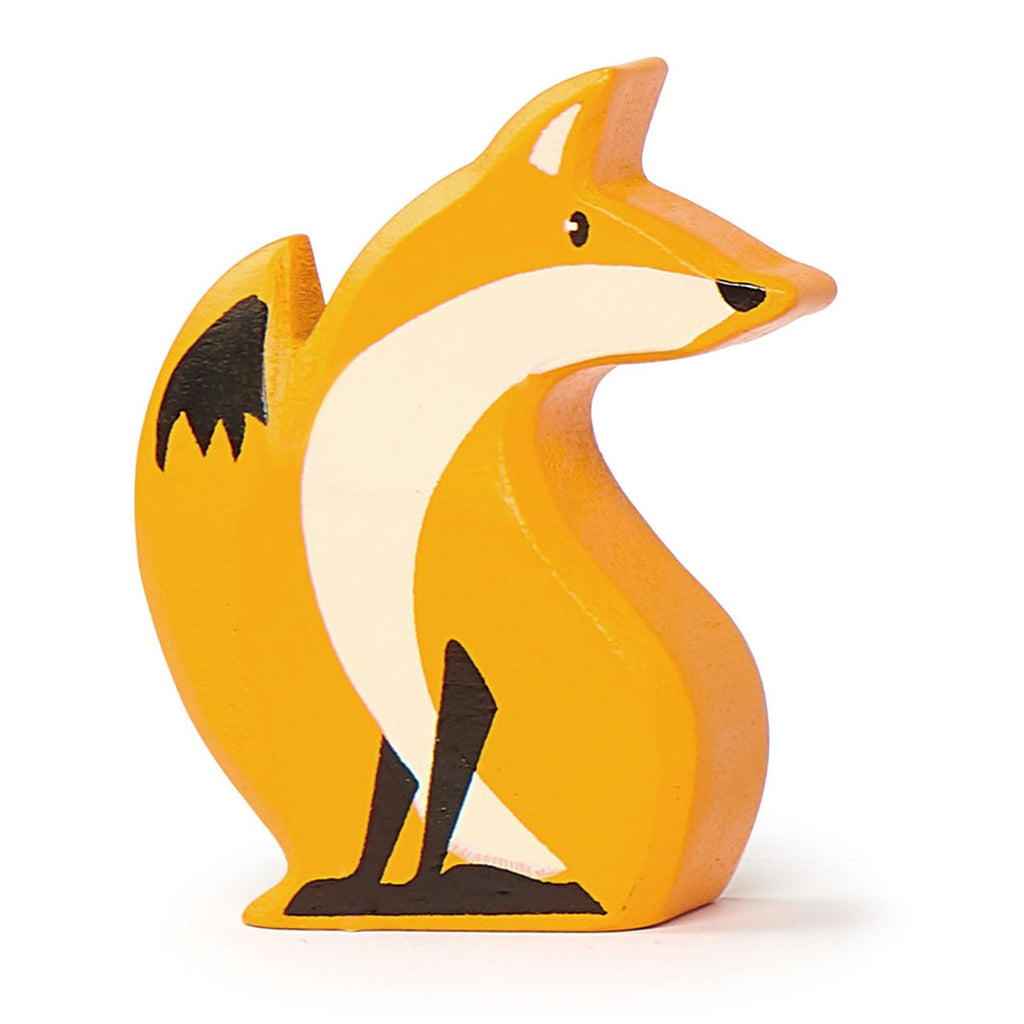 Tender Leaf wooden fox in orange