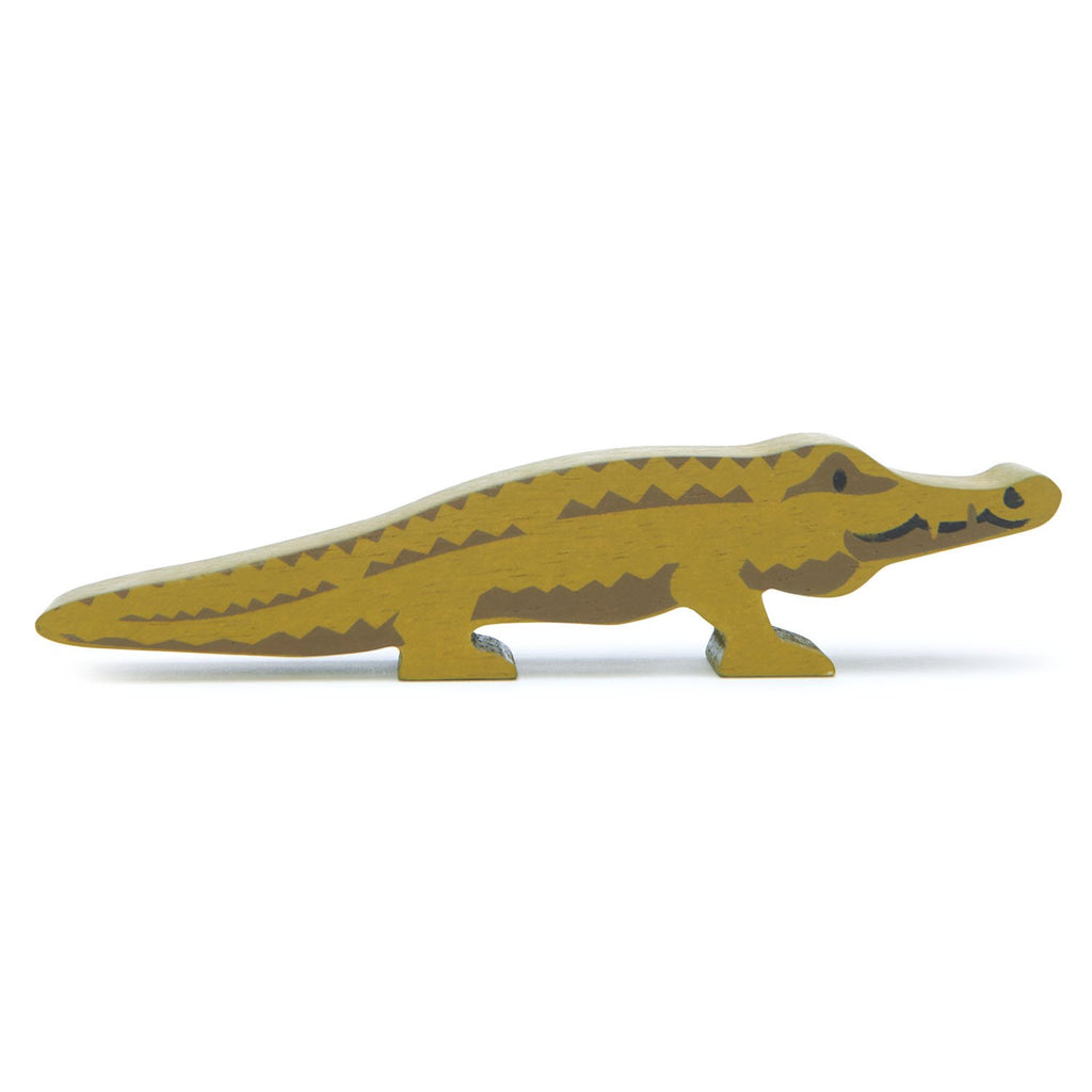 Tender Leaf wooden crocodile toy in green