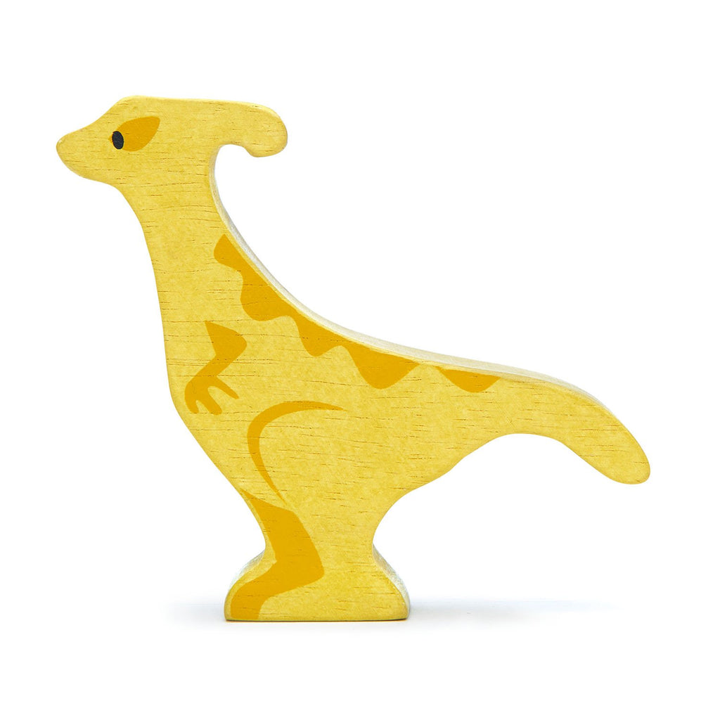 Tender Leaf wooden dinosaur toy in yellow