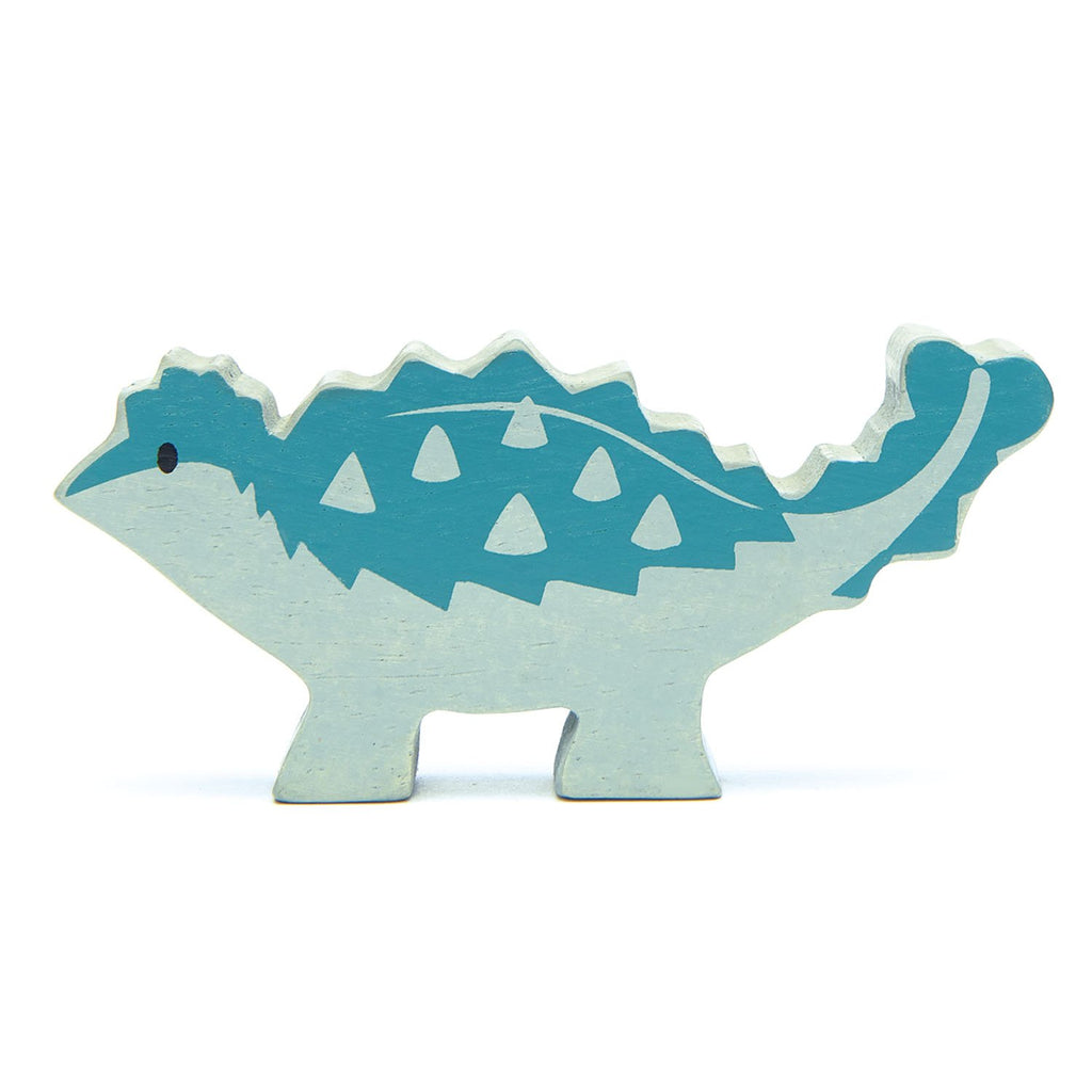 Tenderleaf wooden dinosaur animal toy in blue
