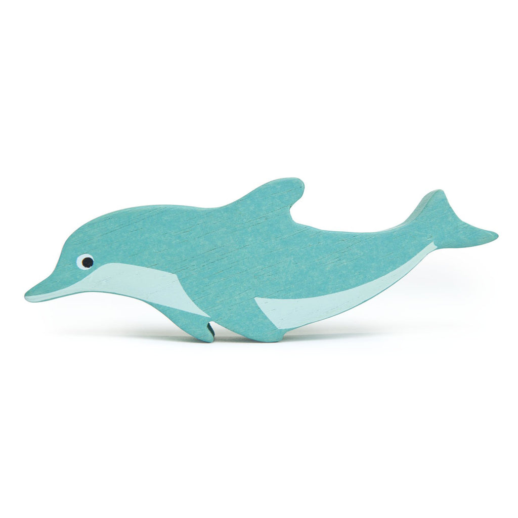 Tender Leaf wooden dolphin toy coastal animals in blue