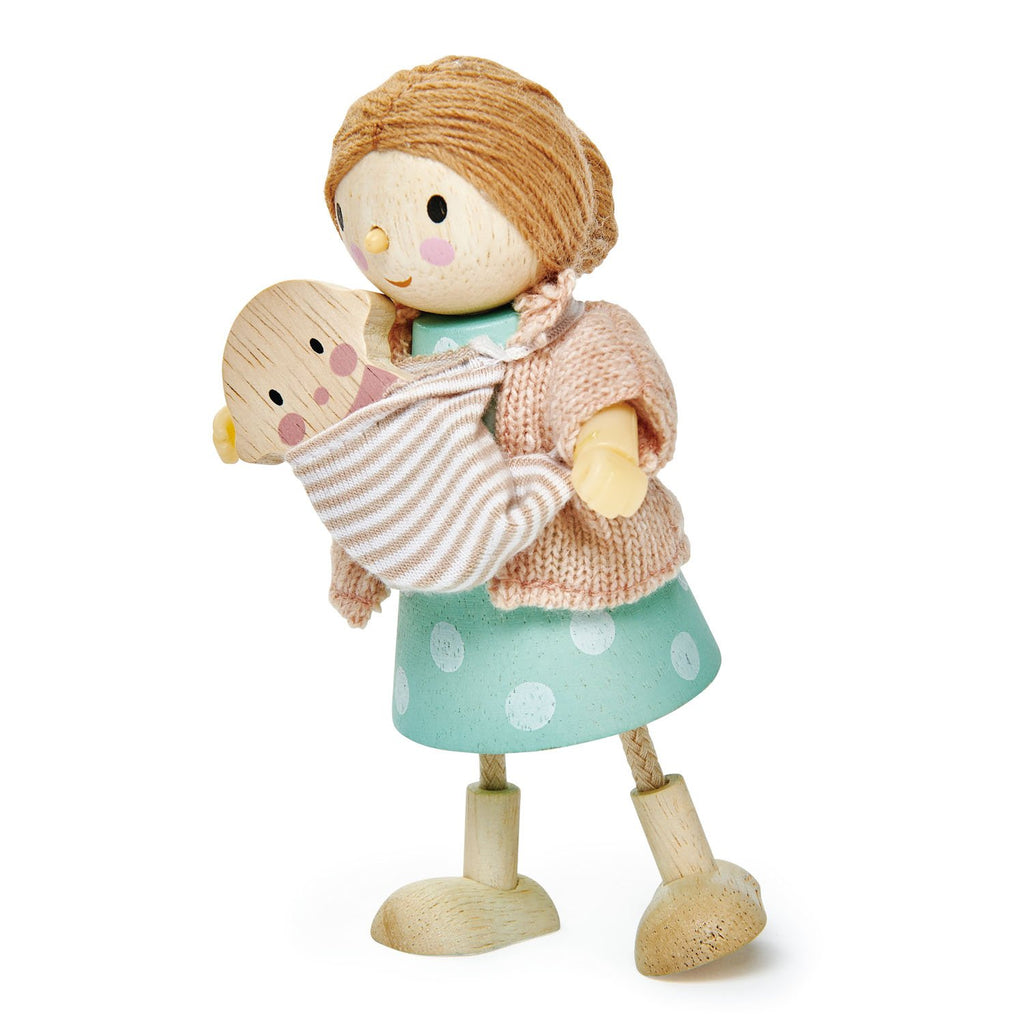 Tender Leaf Toys Wooden Dolls mrs goodwood and her baby
