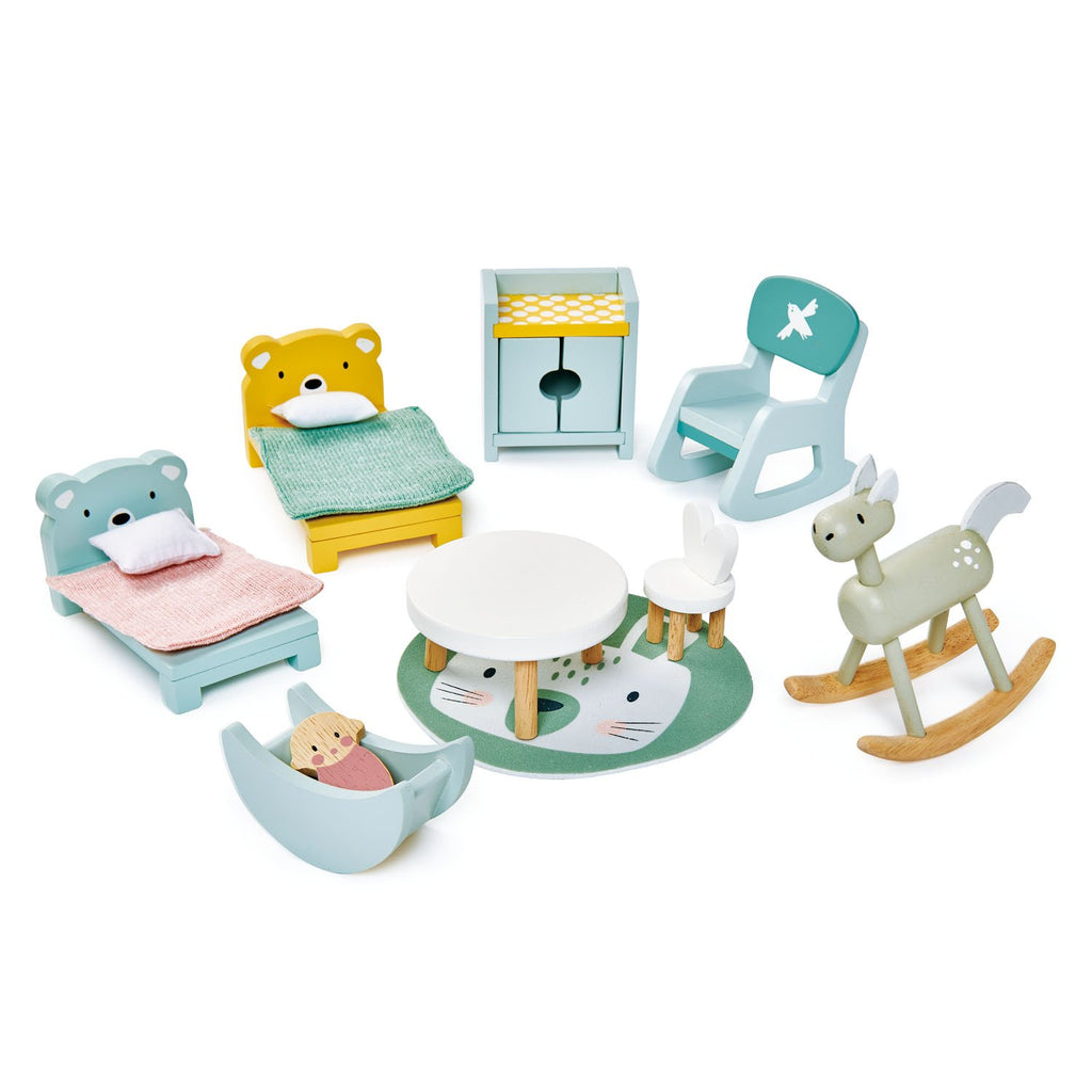 Tender Leaf wooden toys play childrens room furniture set