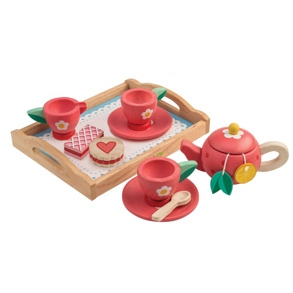 Tender Leaf toys wooden tea tray set