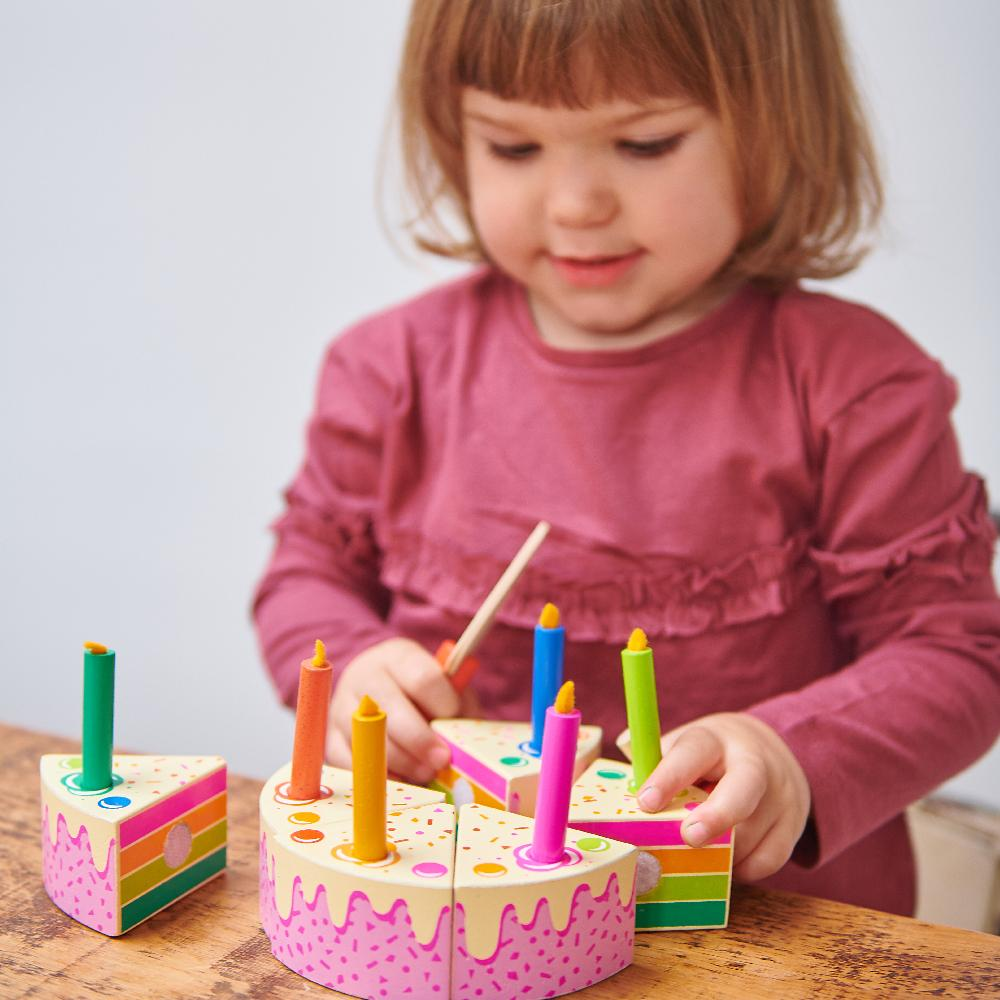 Tender Leaf wooden toys rainbow cake