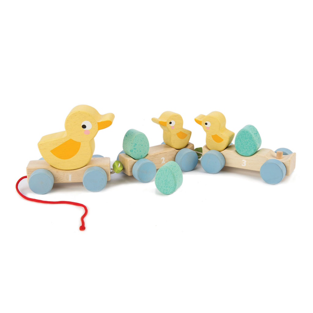 Tender Leaf Wooden pull along toy ducks gift for toddlers