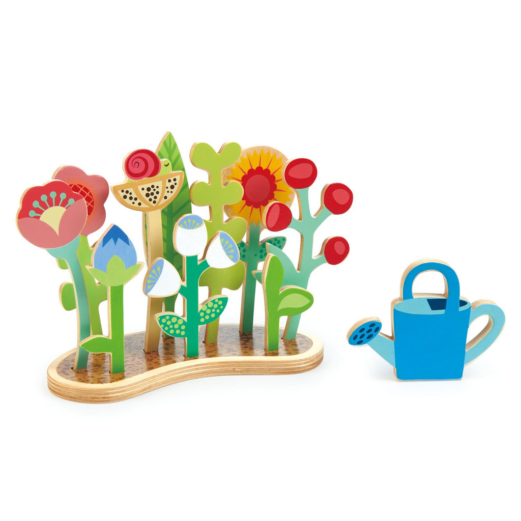 Tender Leaf wooden toy flower bed