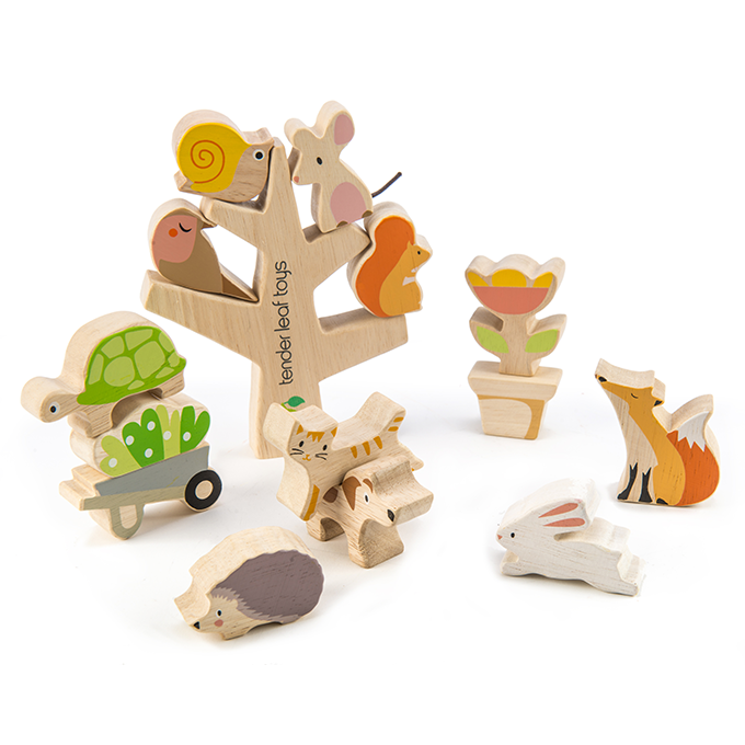 Tender Leaf wooden stacking garden friends toy