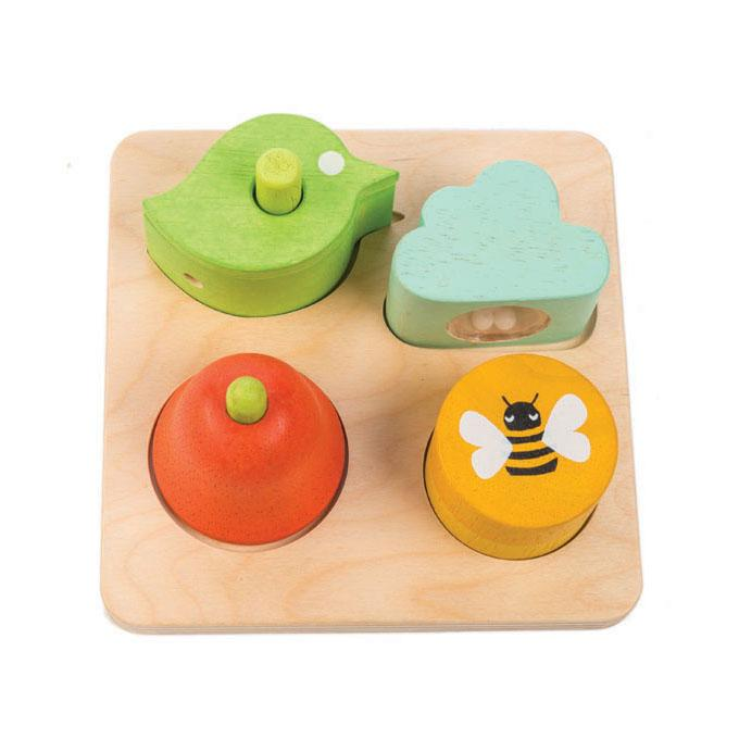 Tender Leaf wooden educational Audio Sensory Tray for toddlers