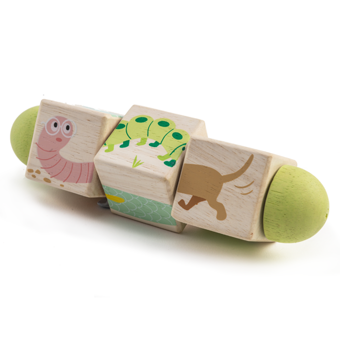 Tender Leaf wooden Toys Twisting toddler Cube blocks