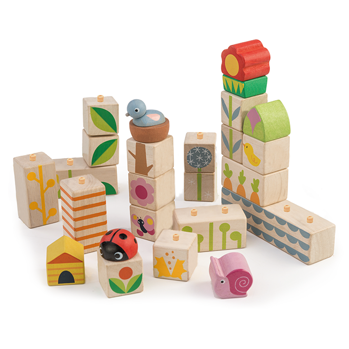 Tender Leaf Wooden garden blocks for toddlers
