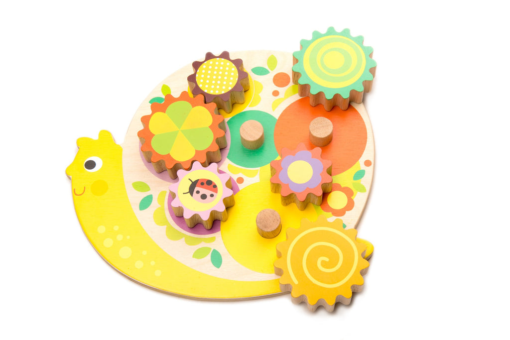 Tender Leaf Wooden twist and turn puzzle toy for toddlers