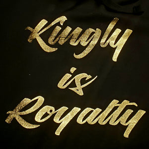 KINGLY X PSA Collabo T-Shirt - Kingly Is Royalty/Queenly Is Royalty