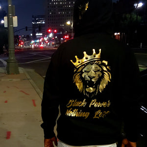 KINGLY X PSA Collabo Hoodie - Black Power, Nothing Less
