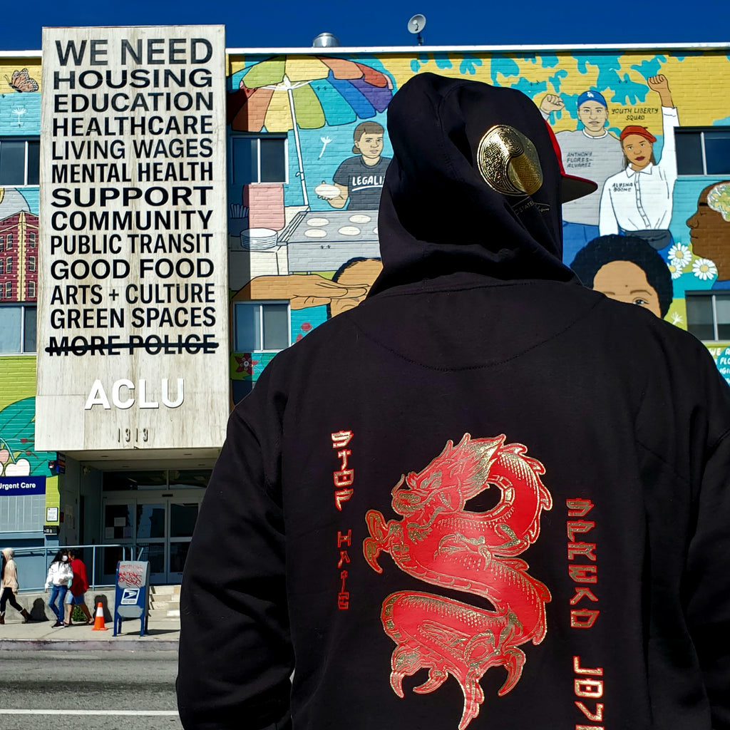 PSA Hoodie - Respect Existence Dragon
