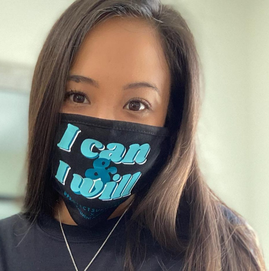 Protect Survivors X PSA Mask - I Can & I Will