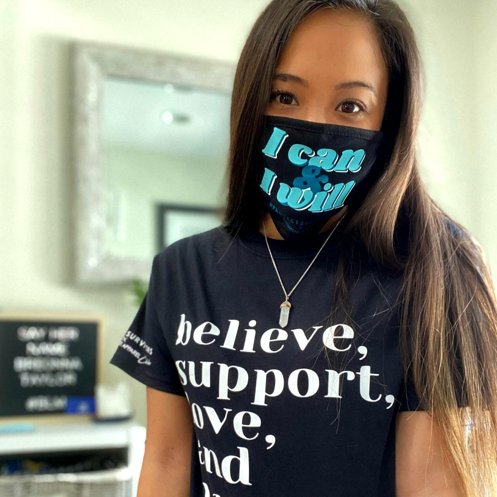 Protect Survivors X PSA T-Shirt - Believe, Support, Love, and Protect
