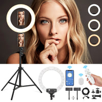 "EyeGrab 14"" Selfie Ring Light with 76"" Tripod Stand Kit - White"
