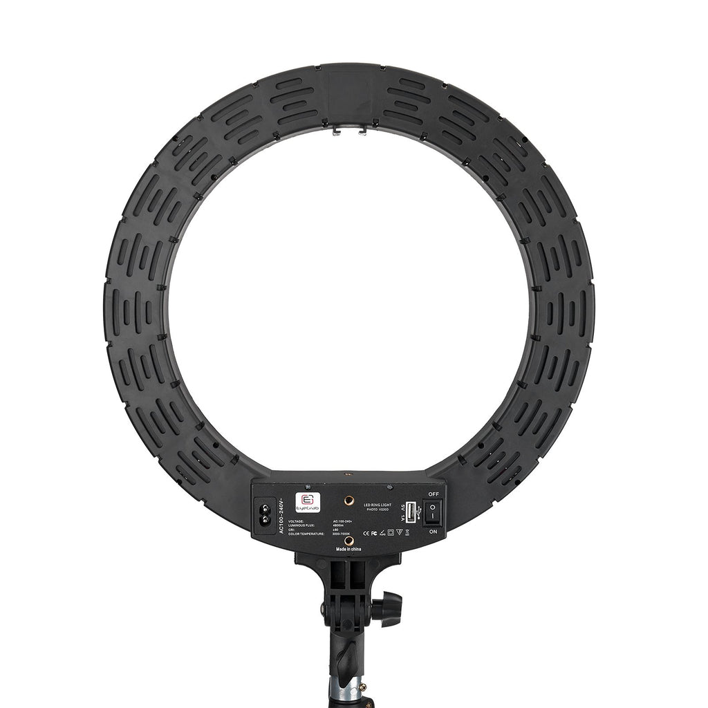 "EyeGrab 14"" Selfie Ring Light with 76"" Tripod Stand Kit - Black"