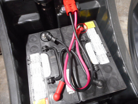 Floor Scrubber battery pack.  How to check voltage with a volt meter