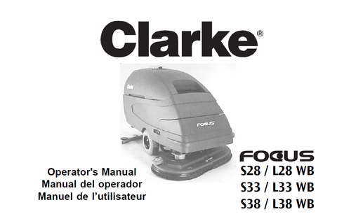 Clarke Encore And Focus Floor Scrubber Parts